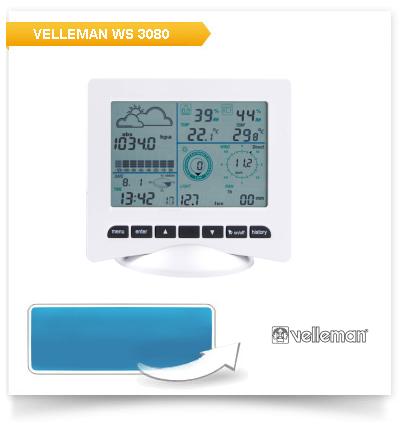 Funk-Wetterstation Velleman WS 3080