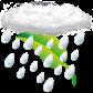 starker Regen-schauer