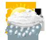leichter Schnee-Regen