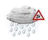 mäßiger od. starker Regen,gefrierend